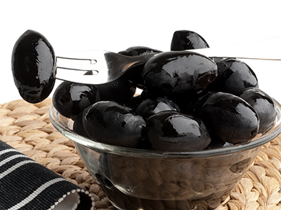 "Black olives ""La bella di Cerignola"""