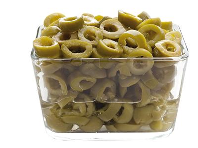 Olive verdi rondelle